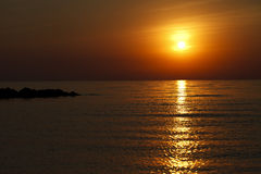 Beautiful landscape, sunrise on the sea Royalty Free Stock Photography