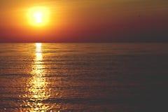 Beautiful landscape, sunrise on the sea Royalty Free Stock Image