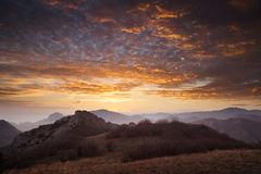 Beautiful landscape. Beautiful sunset in the mountains Royalty Free Stock Image