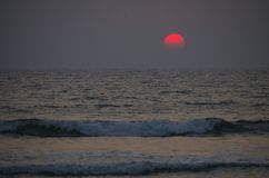 Beautiful landscape a sunset at the sea in Asia. Beautiful landscape a sunset at the sea  Asia Stock Photo