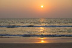 Beautiful landscape a sunset at the sea in Asia. Beautiful landscape a sunset at the sea  Asia Stock Image