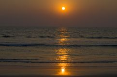 Beautiful landscape a sunset at the sea in Asia. Beautiful landscape a sunset at the sea  Asia Stock Photography