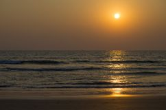 Beautiful landscape a sunset at the sea in Asia. Beautiful landscape a sunset at the sea  Asia Royalty Free Stock Images