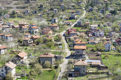 Beautiful landscape of Svoge city,mountain and houses Stock Images