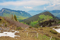 Beautiful landscape of the Swiss Alps Stock Images
