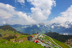Beautiful landscape of the Swiss Alps Stock Image