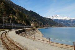 Beautiful landscape from Switzerland to Tirano by  Bernina expre Royalty Free Stock Photos