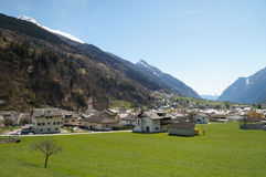 Beautiful landscape from Switzerland to Tirano by  Bernina expre Stock Photography