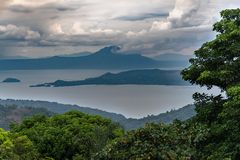 Beautiful landscape at Tagaytay stock photography