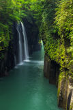 Beautiful landscape of takachiho gorge and waterfall in Miyazaki Stock Images