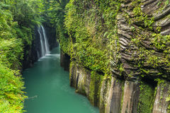 Beautiful landscape of takachiho gorge and waterfall in Miyazaki, Kyushu, Japan stock images