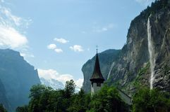Amazing landscapes in Switzerland. royalty free stock image