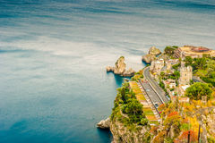Beautiful landscape of Taormina, Italy. Royalty Free Stock Images
