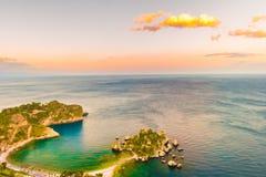 Beautiful landscape of Taormina, Italy. Royalty Free Stock Photos
