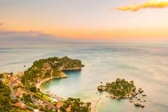 Beautiful landscape of Taormina, Italy. Stock Photos