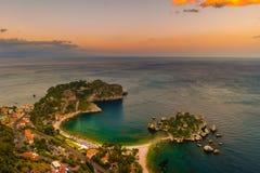 Beautiful landscape of Taormina, Italy. Royalty Free Stock Photography