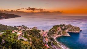 Beautiful landscape of Taormina, Italy. Stock Images