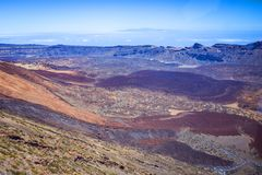 Beautiful landscape of Teide national park, Tenerife, Canary is royalty free stock photography