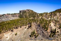 Beautiful landscape of Teide national park, Tenerife, Canary is royalty free stock photo