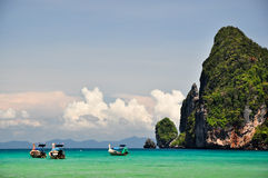 Beautiful landscape in Thailand. Beautiful landscape in phi phi island , Phuket, Thailand Stock Photo