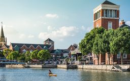 Beautiful landscape of Thames town in Shanghai stock photography