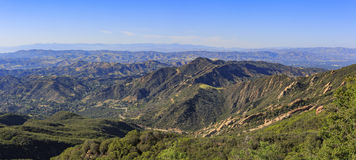 Beautiful landscape on Topanga Lookout trail. Los Angeles, California Royalty Free Stock Images