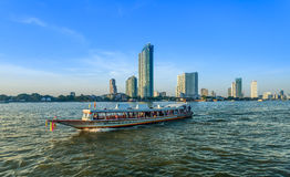 The beautiful landscape of tourist traveling by  boat Royalty Free Stock Images