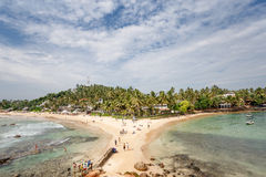Beautiful landscape tropical beach. Royalty Free Stock Images