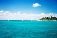 Beautiful landscape, tropical island and cloudscape Stock Photography