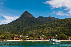 Beautiful Landscape of a Tropical Island Royalty Free Stock Images