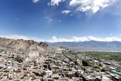 Beautiful Landscape from Tsemo hill, leh Palace Stock Photos