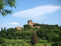 The beautiful landscape of Tuscany. Royalty Free Stock Photography