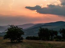 Beautiful landscape Tuscany Italy. Magical summer sunset Royalty Free Stock Images
