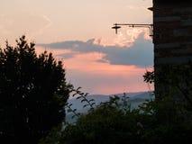Beautiful landscape Tuscany Italy. Magical summer sunset Stock Images