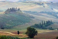 Tuscany sunrise countryside, Italy Stock Images