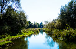 Beautiful landscape two banks river. Beautiful landscape two banks of the river Stock Photography