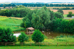The beautiful landscape of the Ukrainian heartland in the summer Royalty Free Stock Photography