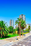 Beautiful landscape of the urban view Barcelona Royalty Free Stock Photos
