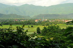 Beautiful landscape of vang vieng,laos Royalty Free Stock Photos