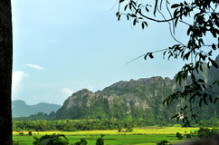 Beautiful landscape of vang vieng,laos Royalty Free Stock Images