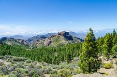 Landscape scenery in Gran Canaria royalty free stock image