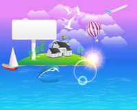 Beautiful Landscape - Vector Illustration. Vector scene, you can change this image that it was uploaded also with eps10 file Stock Images