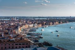 Landscape of Venice from Campanile San Marco stock images