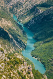 Beautiful landscape of the Verdon Gorge and river Le Verdon in s Royalty Free Stock Images
