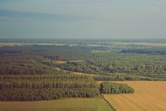 Beautiful landscape view from the air royalty free stock photography