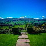 Beautiful landscape view with blue skies royalty free stock photos