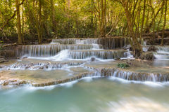 Beautiful landscape view of blue stream waterfalls Stock Images