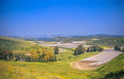 Simple plains in Israel Stock Photo