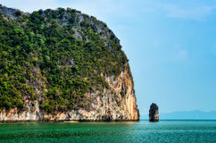 Landscape view of islands in Phang Nga bay, Thailand Royalty Free Stock Images