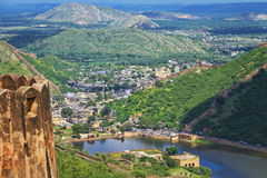 Landscape View From Jaigarh Fort royalty free stock image